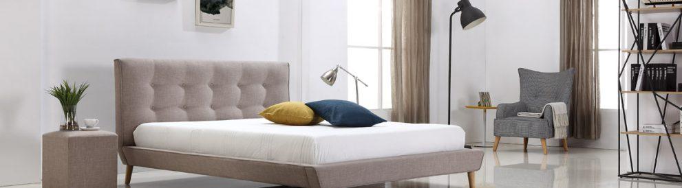 מיטה זוגית דילן בצבע חום אפרפר תמונת רקע