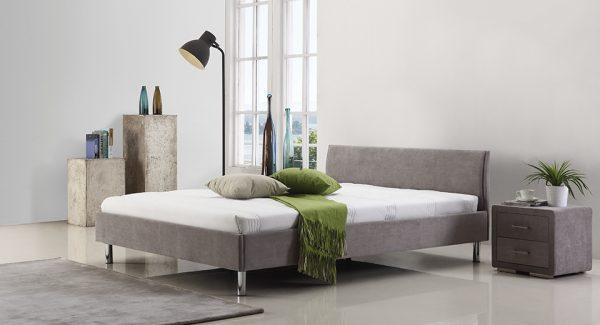 מיטה זוגית Hipo בגוון אפור בהיר