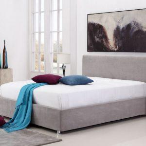 מיטה זוגית עם ארגז מצעים מרופדת בד עם מנגנון הרמה דו שלבי ייחודי ל-AEF