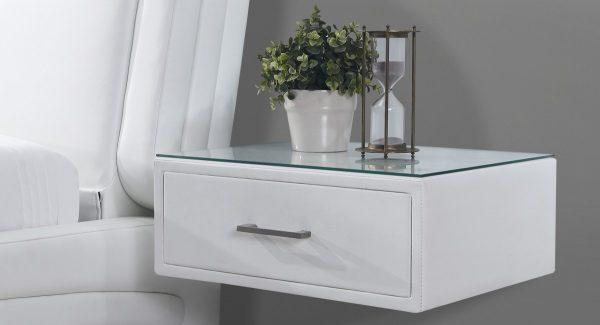 שידה צפה Lofty בצבע לבן רקע 45